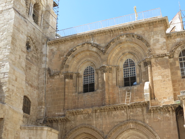 The Famous Holy Sepulchre Ladder