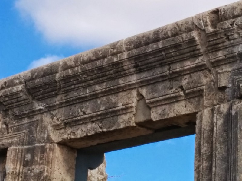 Ancient Synagogue in Meron - Repaired Door Frame