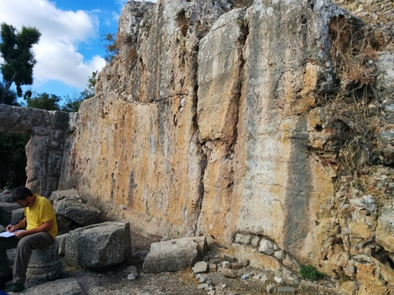 Ancient Synagogue in Meron - Excvated Wall