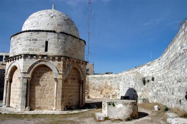 The Chapel of the Ascension is a shrine located on the Mount of Olives, in the At-Tur district of Jerusalem.