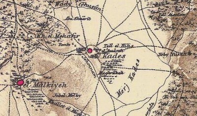 Kedes 19th Century Map