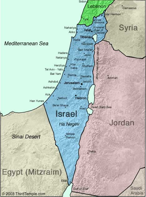 Free PDF Maps of Israel Israel and You
