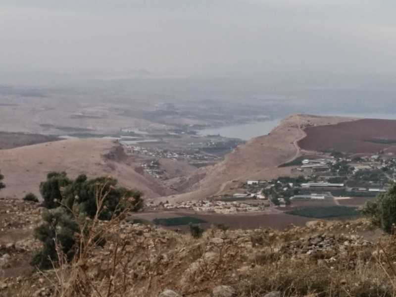 View to Arbel and Sea of Galilee